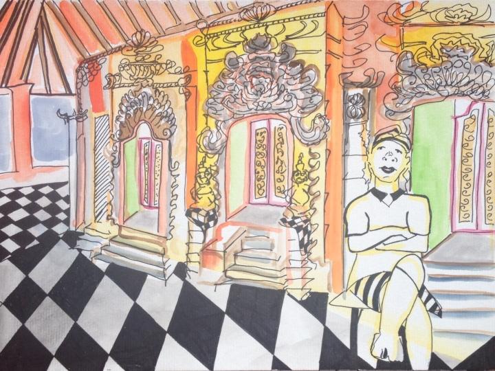 10. Hombre en templo de Ubud