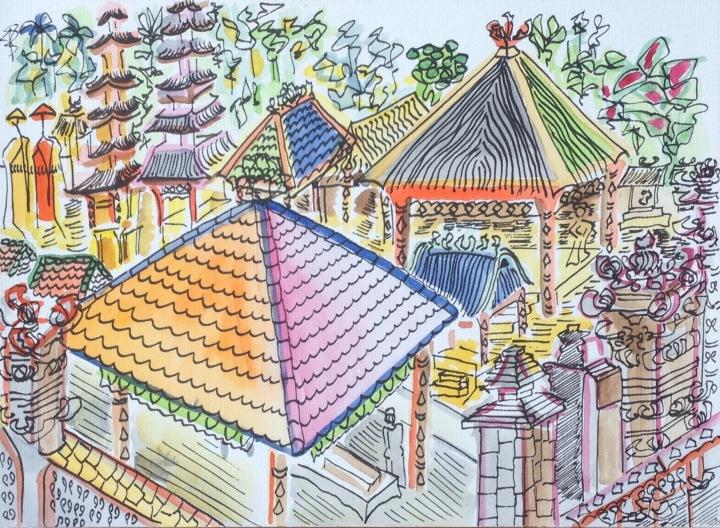 15. Templo entre árboles, Ubud. 29.09.2014