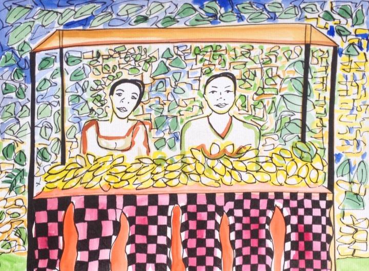 8. Mujeres en Sacred Monkey Forest - Ubud. 25.09.2014